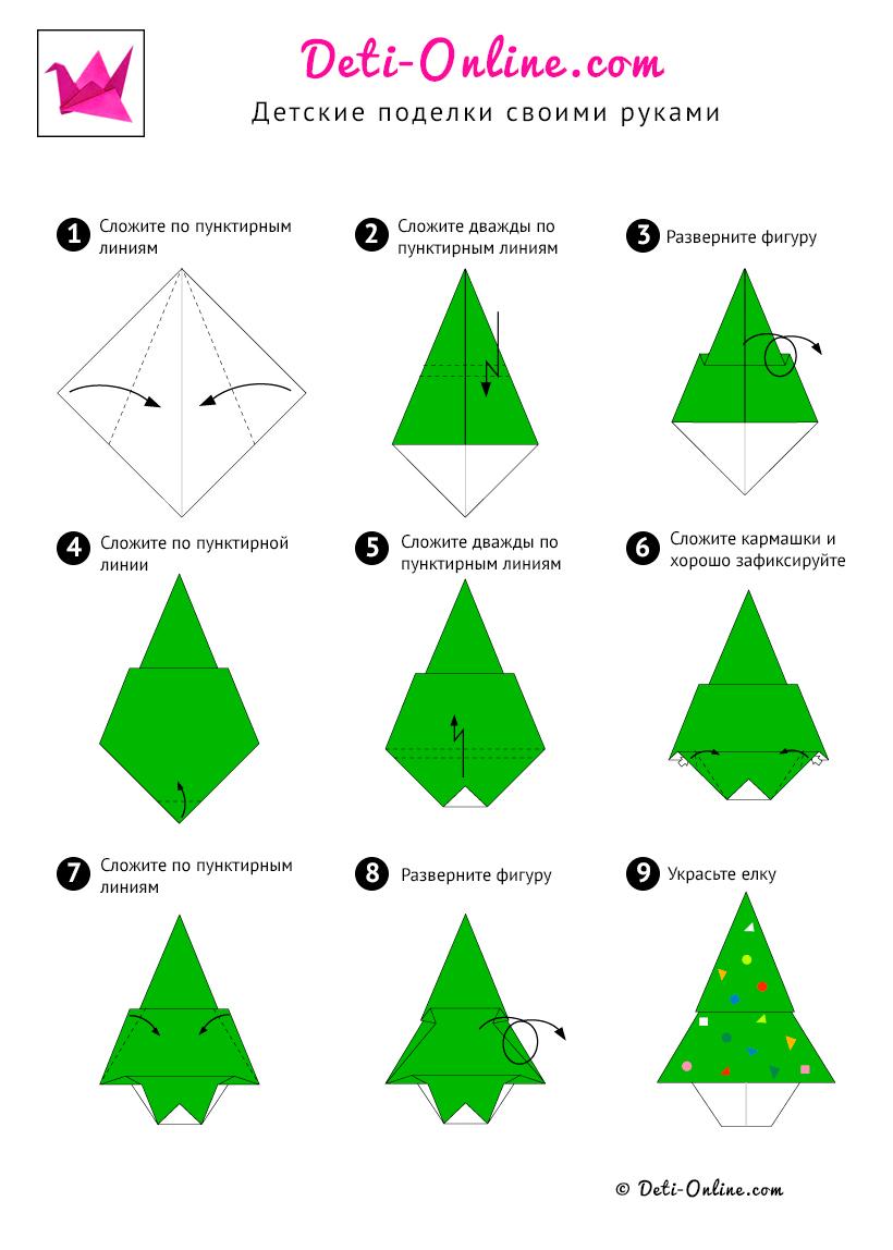Поделки своими руками из бумаги оригами схемы